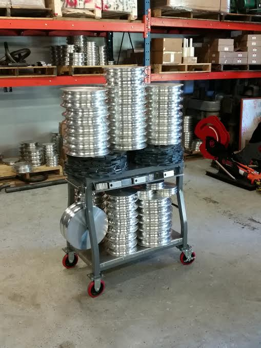 Load capacity test of pipe bender cart