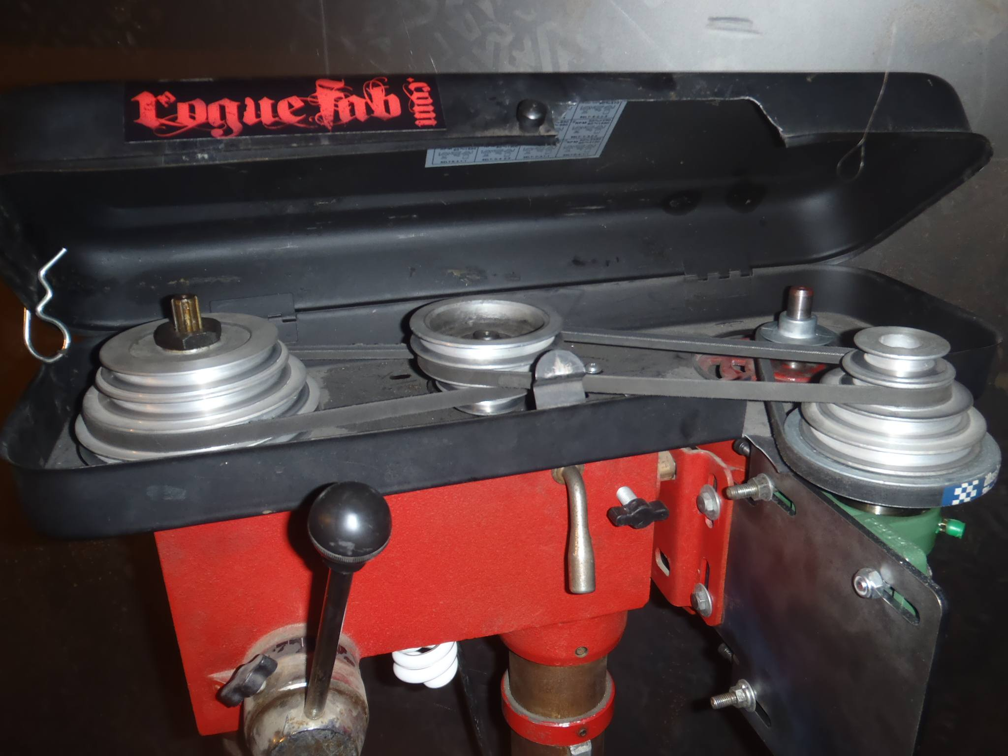 Drill Press Reduction Kit Lower Rpm More Torque Rogue Fabrication