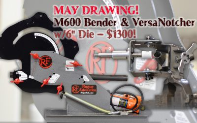 May 2019 Drawing – $1300 package with M600 bender, 6″ CLR die, and VersaNotcher