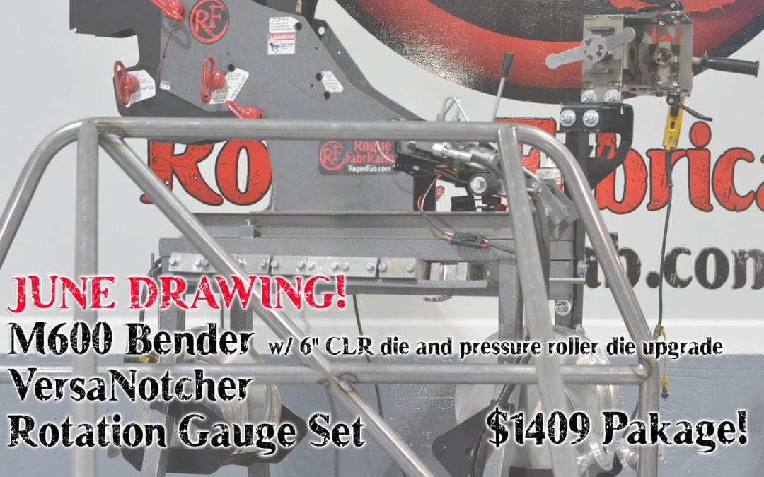 June 2019 Drawing – $1409 Bender/Notcher Package (6″ CLR die, Angle Gauge Set, Roller Die!)