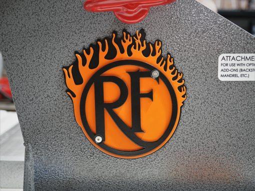 Black Backer, Orange Flame And Black Logo