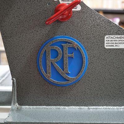 Hammered Grey Logo, Cobalt Blue Round Backer